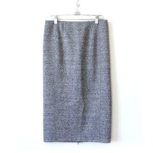H&M | Gray stretchy midi pencil skirt